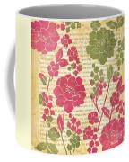 Raspberry Sorbet Floral 2 Coffee Mug