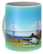 Ravanel Bridge At Patriot Point Charleston Sc Coffee Mug