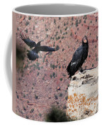Raven Harassing Condor Coffee Mug