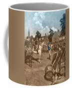Reading The Declaration Of Independence Coffee Mug by Photo Researchers