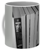 Reading With Dick In Black And White Coffee Mug