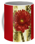 Really Red Posey Coffee Mug