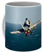 Rear View Of An Fa-18c Hornet Taking Coffee Mug by Stocktrek Images