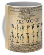 Recruiting Broadside, C1798 Coffee Mug