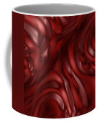 Red Abstract Texture Coffee Mug
