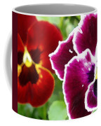 Red And Magenta Pansies Coffee Mug