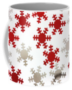 Red And Silver Snowflakes Coffee Mug