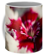 Red And White Dianthus Coffee Mug