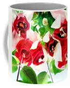 Red And White Fuschias Coffee Mug