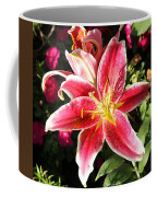 Red And White Tiger Lily Coffee Mug