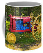 Red And Yellow Tractor Coffee Mug