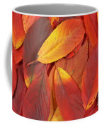 Red Autumn Leaves Pile Coffee Mug