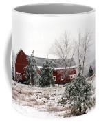 Michigan Red Barn Winter Scene Snow Landscape Coffee Mug