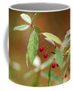 Red Bird Berries Of Fall Coffee Mug