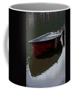 Red Boat In A Canal In The Netherlands Coffee Mug