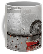 Red Boat In The Harbor At Vernazza Coffee Mug