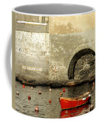 Red Boat In Vernazza Harbor On The Cinque Terre Coffee Mug