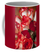 Red Butterfly On Blush Roses Coffee Mug