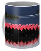 Red Canoes Maligne Lake Coffee Mug
