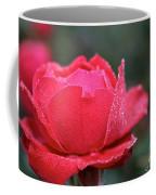 Red Crystal Petals Coffee Mug