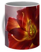 Red Day Lily Coffee Mug