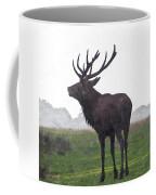 Red Deer Painting Coffee Mug