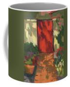 Red Door - Shadow And Light Coffee Mug