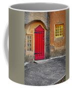 Red Door And Yellow Windows Coffee Mug