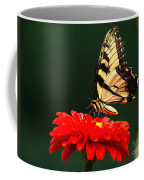 Red Flower And Butterfly Coffee Mug