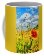 Red Flower In The Field Coffee Mug