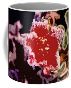 Red Flower With Frost Coffee Mug