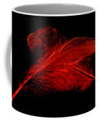 Red Ghost On Black Coffee Mug