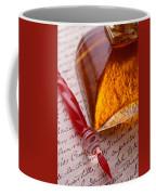 Red Glass Pen  Coffee Mug