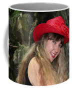 Red Hat And A Blonde Coffee Mug