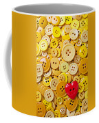 Red Heart And Yellow Buttons Coffee Mug