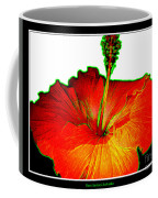 Red Hibiscus With Special Effects Coffee Mug