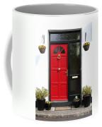 Red Irish Door Coffee Mug