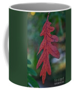 Red Leaf Hanging Coffee Mug
