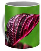 Red Leaf Coffee Mug by Kaye Menner