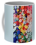 Red Lips Button Coffee Mug