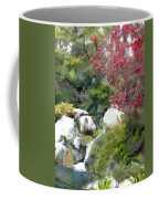 Red Maple Above The Falls Coffee Mug