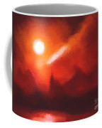 Red Mountains Coffee Mug by Pixel Chimp