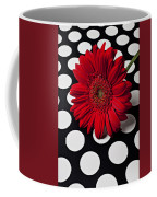 Red Mum With White Spots Coffee Mug