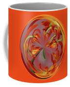 Red Orange Orchid Orb Coffee Mug