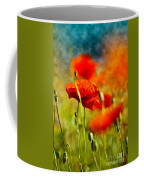 Red Poppy Flowers 01 Coffee Mug