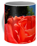 Red Rose Flower Bright Colorful Vivid Red Floral Rose Coffee Mug