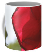 Red Rose Petal Coffee Mug