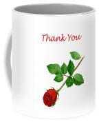 Red Rose Thank You Card Coffee Mug