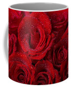 Red Roses And Water Drops Coffee Mug