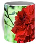 Red Ruby Dahlia Coffee Mug
